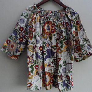 3/$20 Vintage Floral off shoulder Blouse
